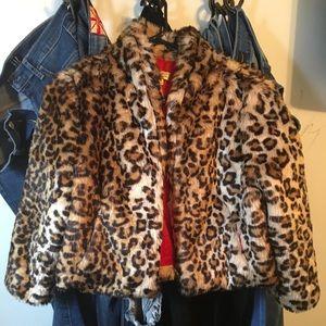 Vera Wang faux fur leopard print